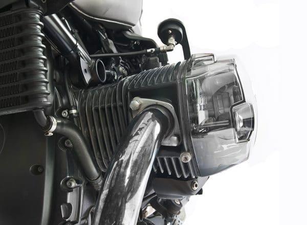Set coperchi valvole trasparenti XRay per motori Boxer BMW - prospetto frontale cover sinistra